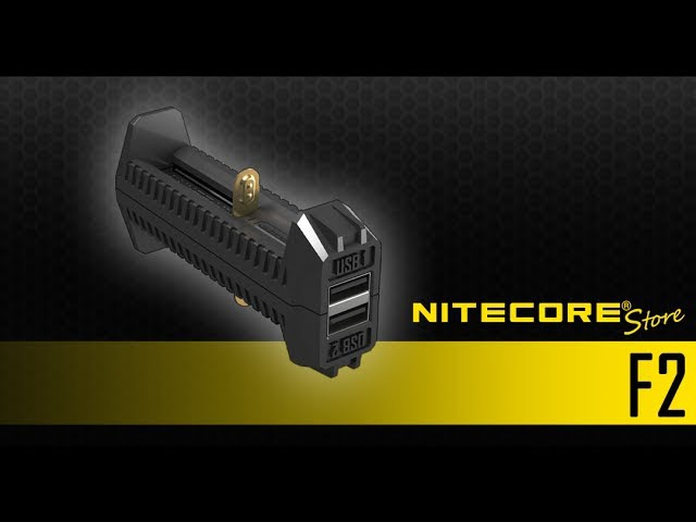 Nitecore F2 Flexible Dual-Slot Power Bank Charger for Li-ion/IMR 18650, 16340, 14500 Batteries