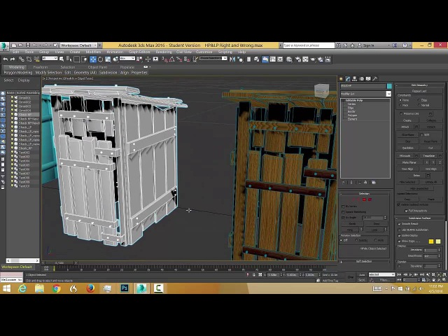 Make a high/low prop, Unwrap it, bake a normal AO map Apply to low poly in 3ds max