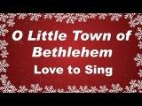 O Little Town of Bethlehem with  Lyrics Christmas Carol Sung by a Kids Choir