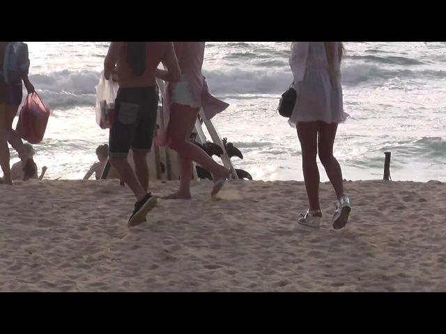 Мастурбируют на пляже видео какие