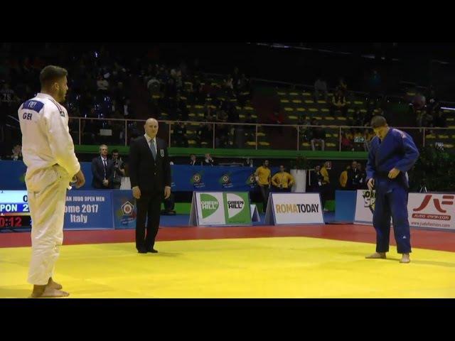 European Judo Open Rome 2017, final 100 kg Frey (GER) vs Fara (AUT)