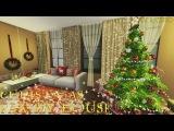 The Sims 4 Строительство. Новогодний семейный дом
