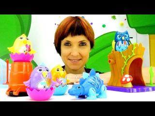 Игры для детей с Машей Капуки Кануки! Видео с игрушками DigiBirds. Поющие Птички и Динозавры
