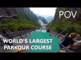 POV Full Run - WORLD'S LARGEST PARKOUR COURSE Calen Chan