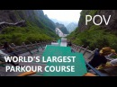 POV Full Run - WORLD'S LARGEST PARKOUR COURSE | Calen Chan