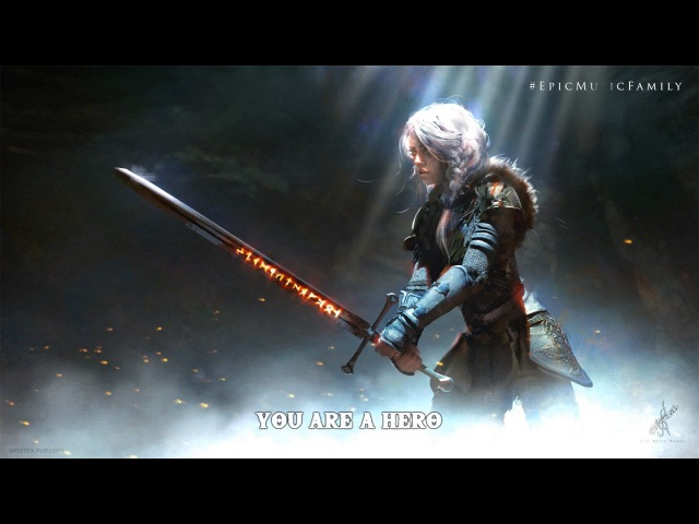 Epic Powerful Vocal Music HERO | by Elbroar (Lyrics)