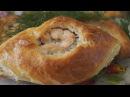 Пирожки с рыбой из быстрого дрожжевого слоеного теста Просто и Вкусно
