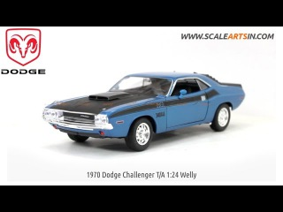 1970 Dodge Challenger T/A 1:24 Welly Diecast Scale Arts india Model