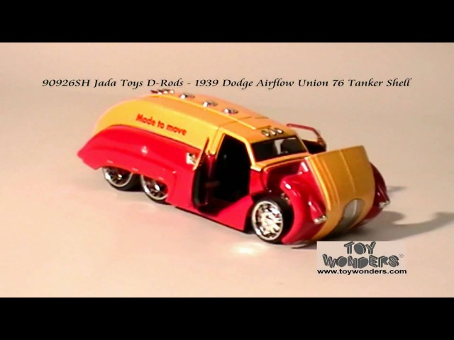 90926SH-1939-Dodge-Airflow-Union-Tanker-Shell-Jada-Toys-Drods-Diecast-Wholesale.mpg