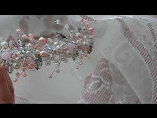 Нежно-розовый ободок