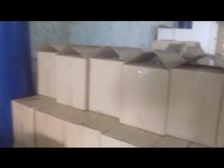 Изъятие паленой водки со склада по адресу. Город Черняховск, ул.Портовая 2.       26.04.2017