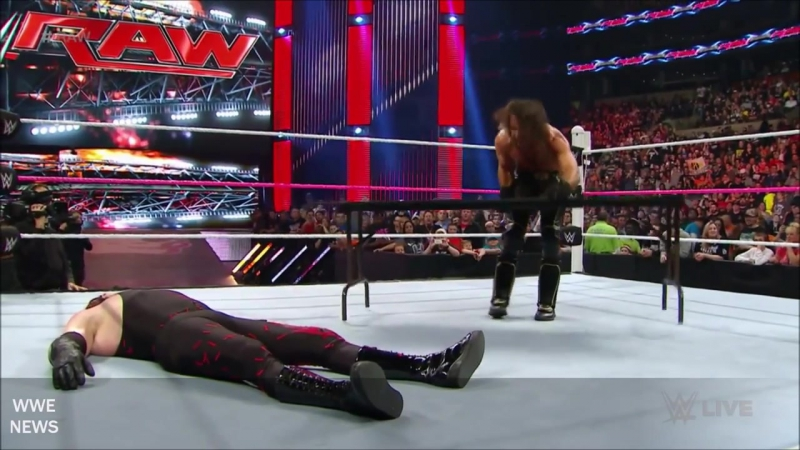 Demon Kane Attack And Destroys Seth Rollins 2015