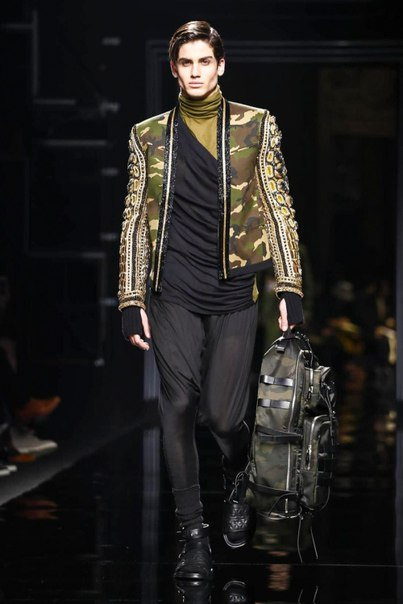 The Balmain Army Goes Glam Rock for 2017 Fall/Winter