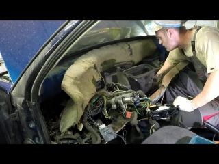 Замена радиатора печки Гольф 3 радиатор отопителя GOLF 3 снять торпеду разбор