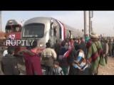 Впервые за последние 4 года пассажирский поезд отправился из Алеппо.