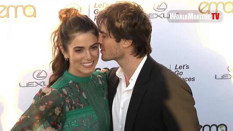 Ian Somerhalder Kisses Nikki Reed at 2017 EMA Awards