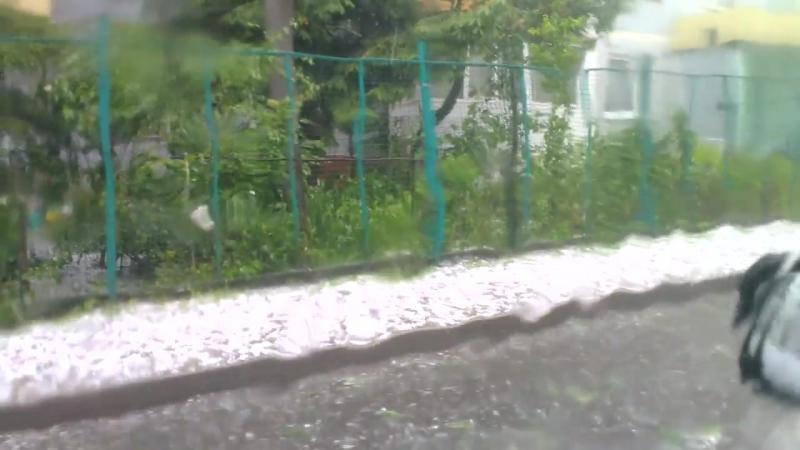 Град, Ураган в Мытищах (Москва). Я был в аду - почти! 30.06.17