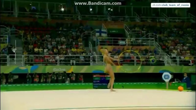 Яна Кудрявцева обруч Олимпийские Игры 2016 (квалификация)