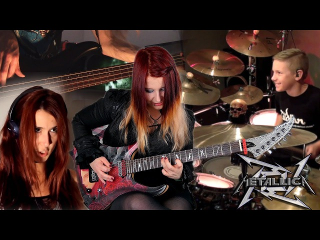 METALLICA For Whom The Bell Tolls COVER Jassy J Avery Drummer Sandra Szabo WhiteSlash