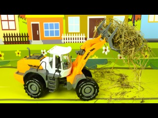 Tractor for kids & Excavator - Toys Trucks For Kids 1 HOUR - Children Video Diggers for children