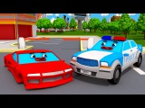 Catching Bad Cars the Race Car - The Police Car on the Road Police Chase Videos For Children