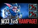 W33 Meepo God Rampage Dota 2