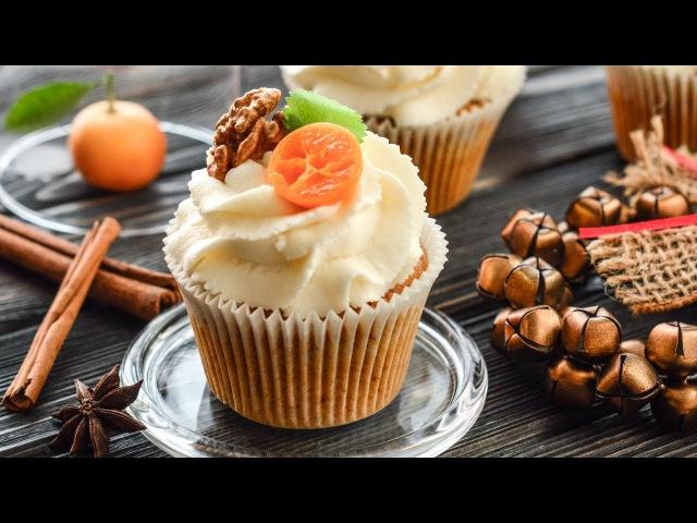 Морковные КАПКЕЙКИ с КРЕМ-ЧИЗОМ ☆ Carrot cupcakes