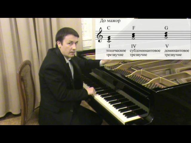 Уроки игры на пианино 9 Тоника Субдоминанта Доминанта
