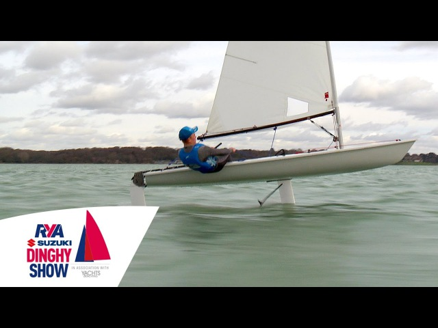 Incredible Foiling Laser - Taking off at Southampton Water Activities Centre - Flying Boat