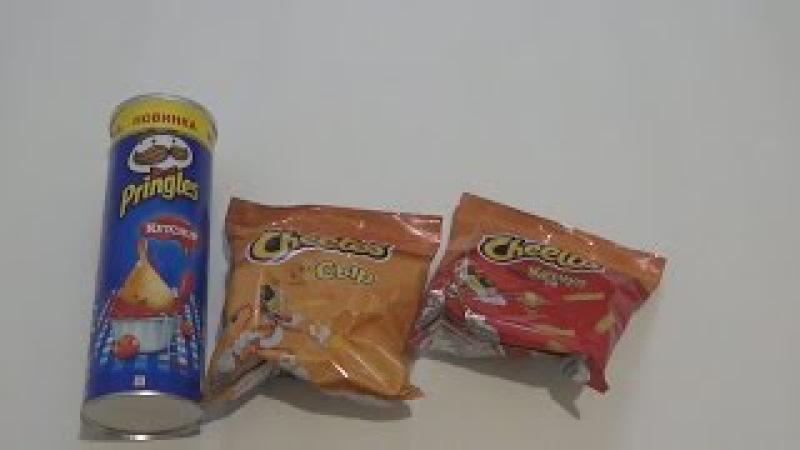 Новинка!Pringles со вкусом кетчупа,Cheetos кукурузные палочки со вкусом сыра и кетчупа.