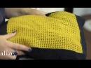 Alize Angora Gold ile Kafes Zemin Üzerine Zincir İşi Yapımı Making Chain Work on a Mesh Base