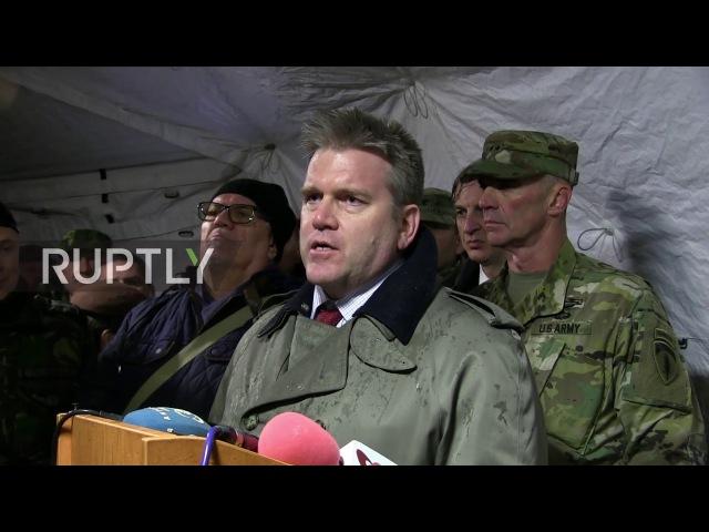 Румыния: Американские войска присоединяются к Румынской армии за взрывные совместные танковые учения.