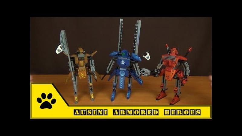 Конструктор Ausini, роботы из серии Armored Heroes