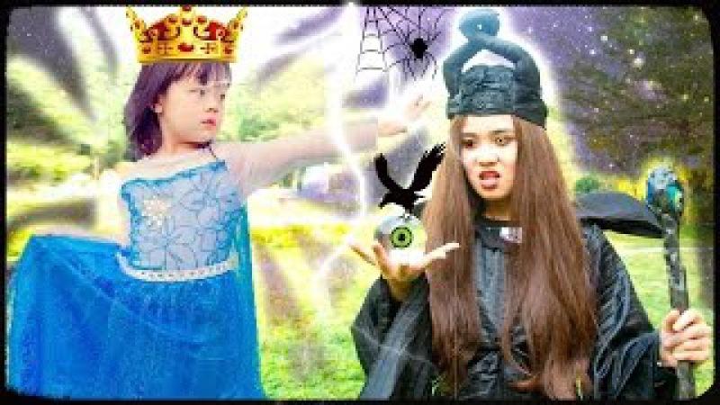 Örümcek adam Frozen Elsa DÖNER İÇİNE JOKER! w / polis Anna Spidergirl zehir! Süper kahraman :)
