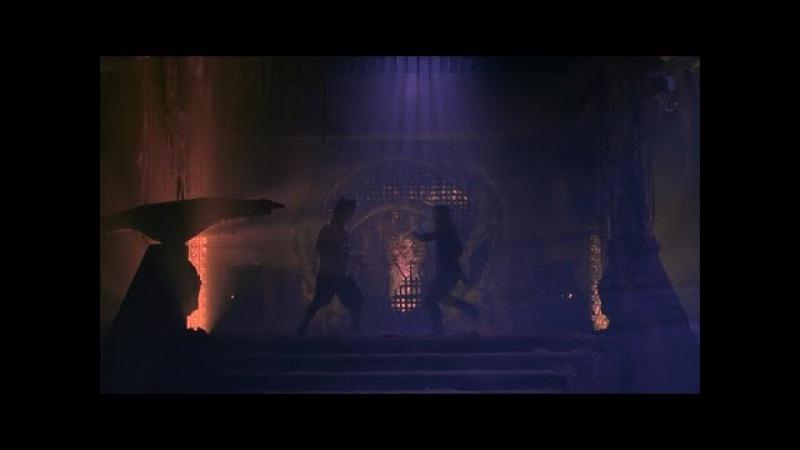 Mortal Kombat (1995) Liu Kang vs Reptile battle scene