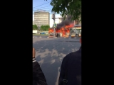 В Москве загорелся пассажирский автобус Юго Западная, 57 пожарная часть