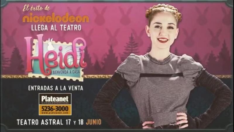 No falta nada para el estreno de HEIDI en el TEATRO ASTRAL!! 17 y 18 de junio 16:30hs. Ya están las entradas por PLATEANET!! Aaa