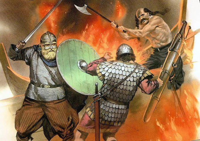 Бой норманнов