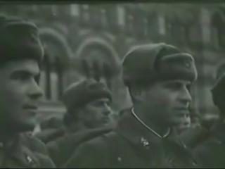 Кинохроника от 7 ноября 1941 Парад посвящённый 24 годовщине Великой Октябрьской Социалистической Революции