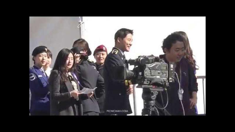 171020 경찰의 날, 광화문광장 - XIA 김준수 - 다시 만난 누나와 사랑스런 동생♡