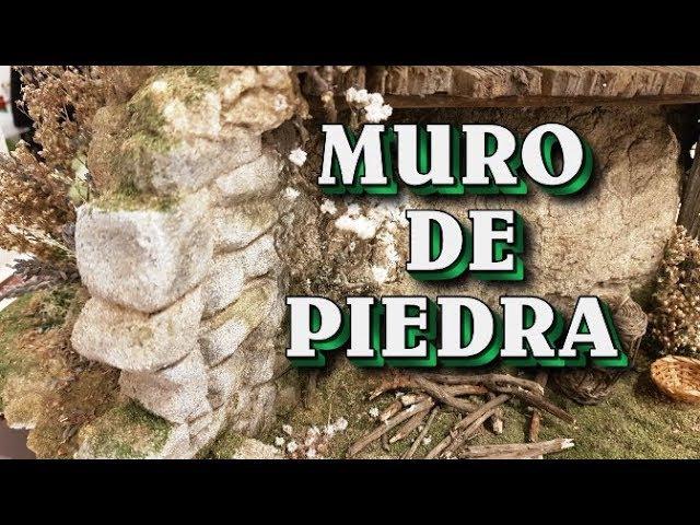 HACER MURO DE PIEDRA PARA EL PESEBRE NACIMIENTO BELÉN