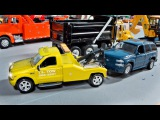 The Yellow Tow Truck and Car Service + 1 Hour kids videos compilation Service &amp Emergency Vehicles