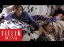 Pharaoh и Алеся Кафельникова на съемках для апрельского номера Tatler