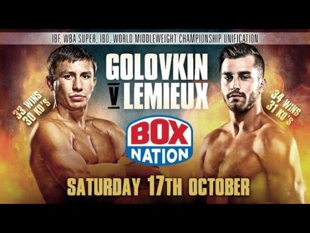 Gennady Golovkin GGG vs David Lemieux Full Fight 17/10/2015