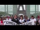 Франция: «Не трогайте моего копа» - офицеры-жены митингуют против насилия.