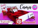 DIY ✄Como hacer CAMA para muñecas Barbie Estilo PINTEREST| Edredón, Cojines y almohadón SIN COSER