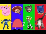 Funny Wrong Heads videos Peppa Pig Toy Story Talking Tom and PJ Masks. Wrong Body Cartoon for kids