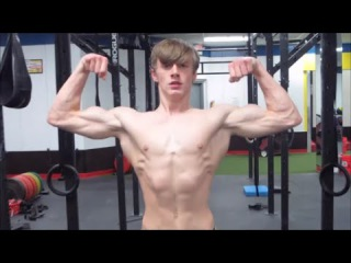 16 y/o Ripped Nick: Aesthetic Pumping & Flexing (HD)