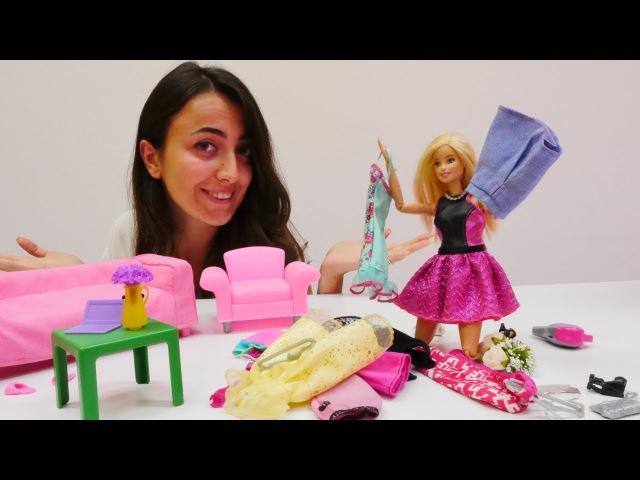 Kızoyuncakları. Sevcan ve Barbie kaybolan kolyeyi arıyor. oyuncakdünyası