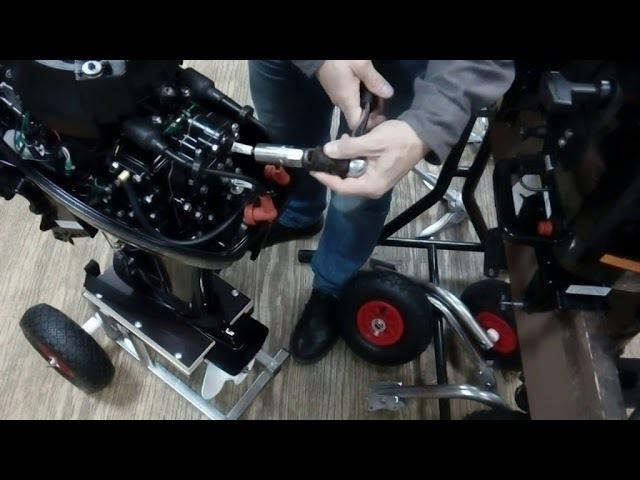 Замена свечей на лодочном моторе 9.9